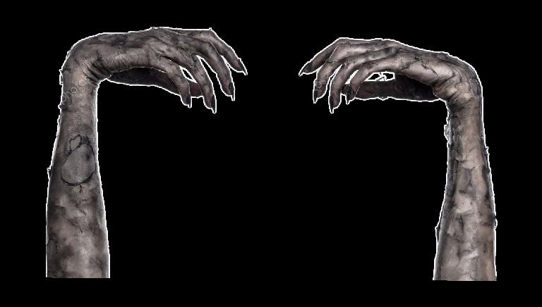 Hands clipart zombie. Makeup arms skin dead
