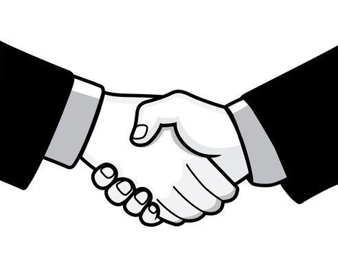 The top best blogs. Handshake clipart