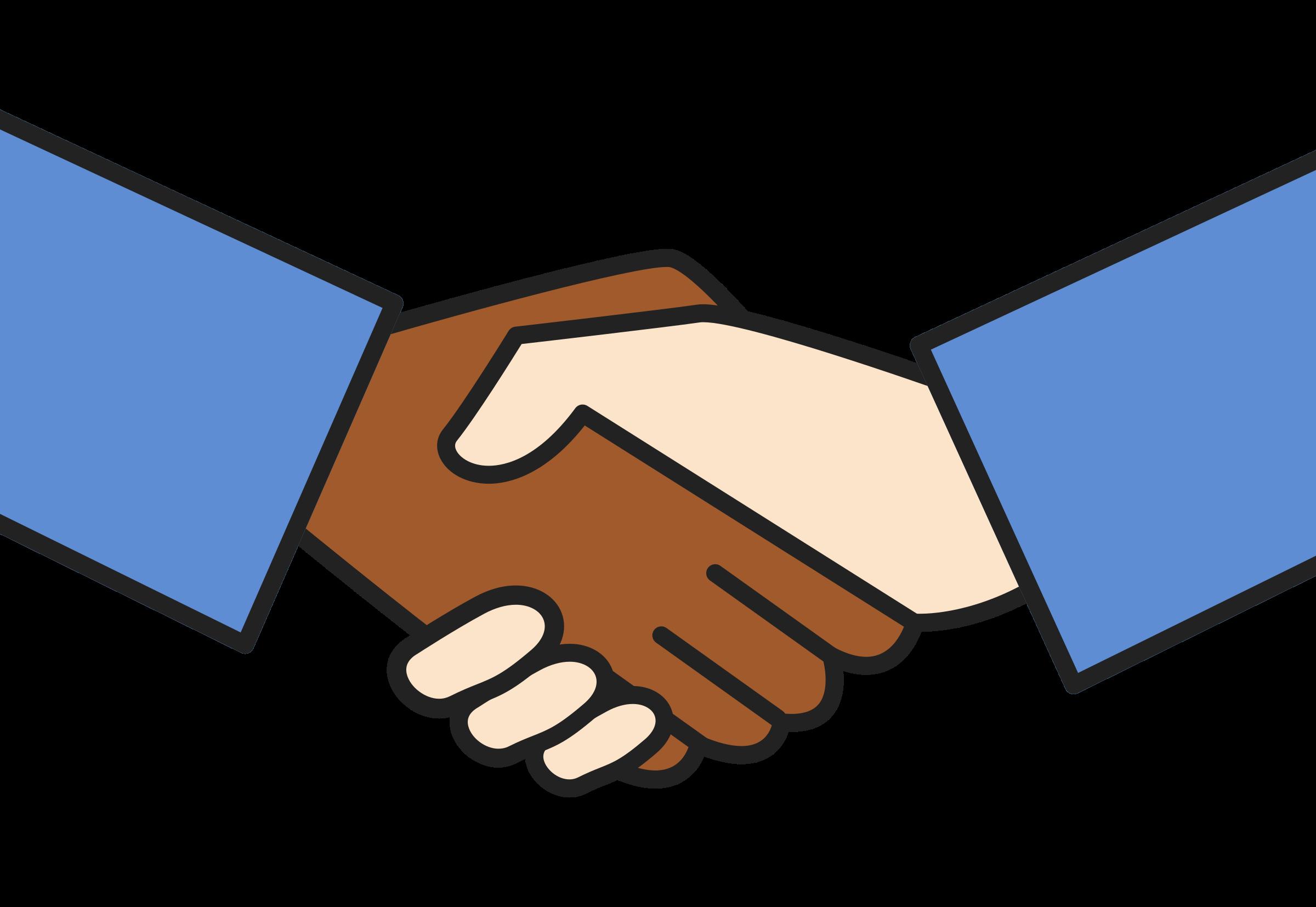 Hand clipart friend. Handshake worker unite clipartable