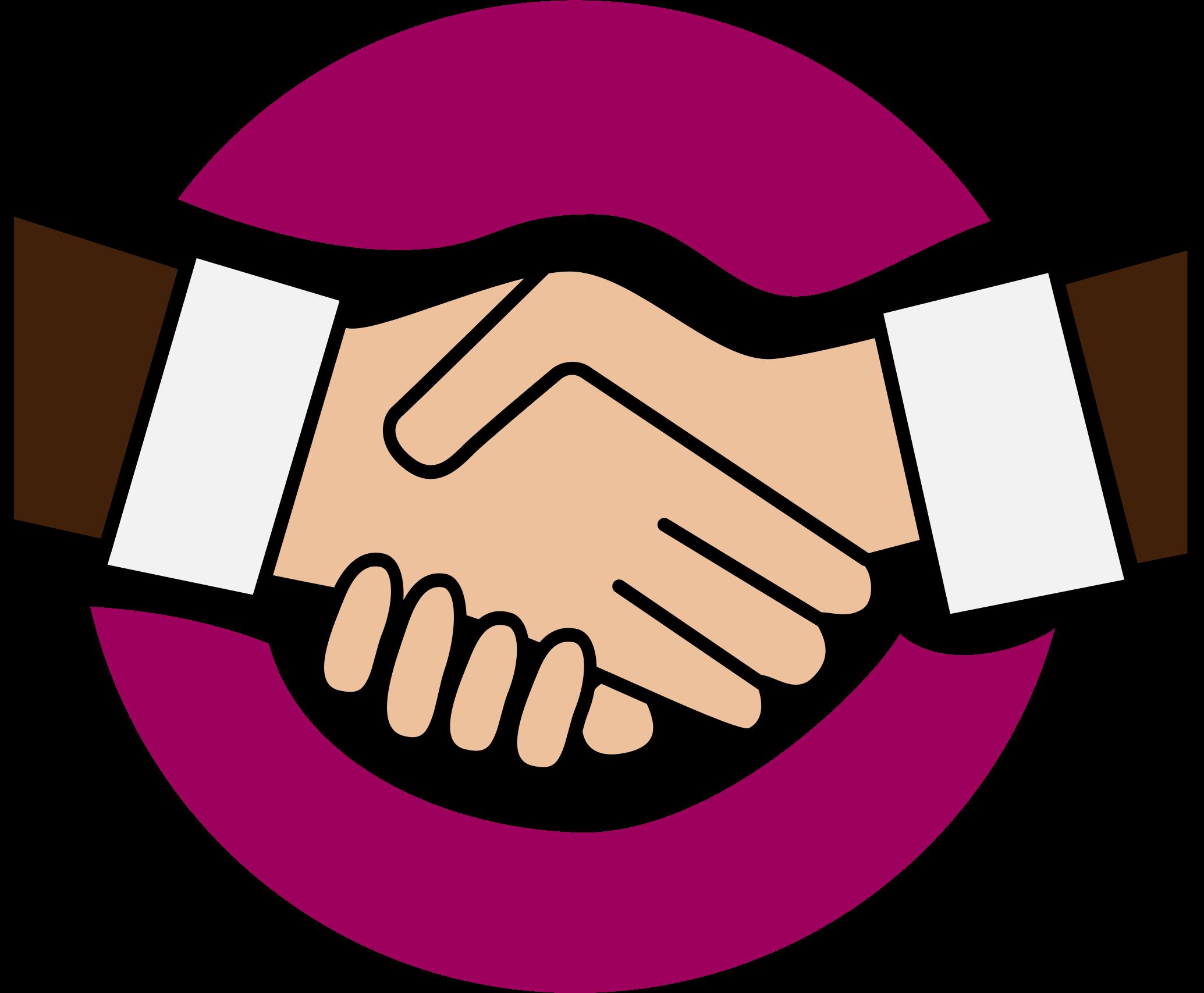 A handshake icon big. Hand clipart friend
