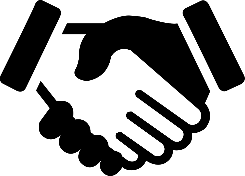 Cooperation svg png icon. Handshake clipart bet