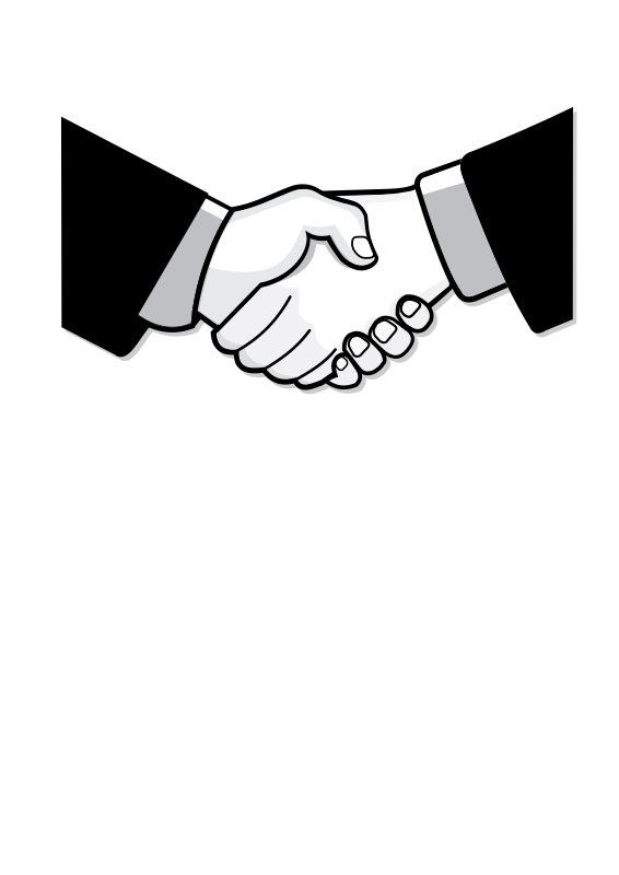 Handshake clipart black and white. Medium image png