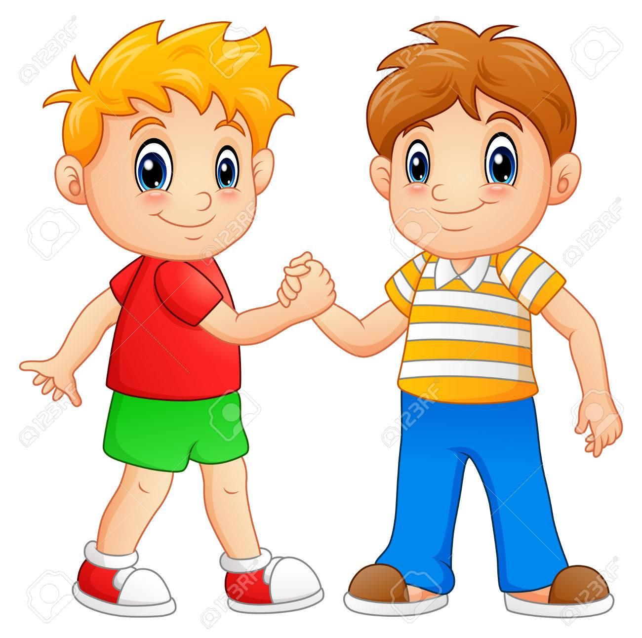 Handshake clipart boys. Children shaking hands images