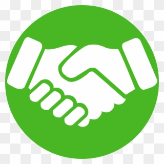 Shaking hands icon green. Handshake clipart brotherhood