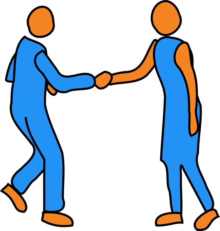 Clipartable com. Handshake clipart business meeting