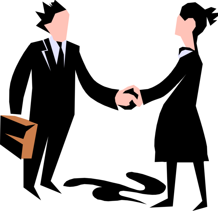 Handshake clipart business meeting. Entrepreneur executive shakes hands