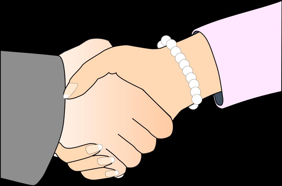 Public domain clip art. Handshake clipart business person