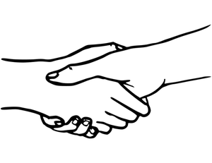 Handshake clipart clasped hand. Hands drawing free download