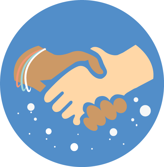 Who we are global. Handshake clipart collaboration