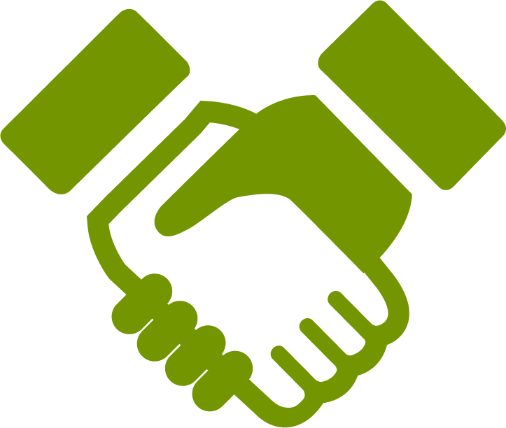 Green icon free icons. Handshake clipart colorful