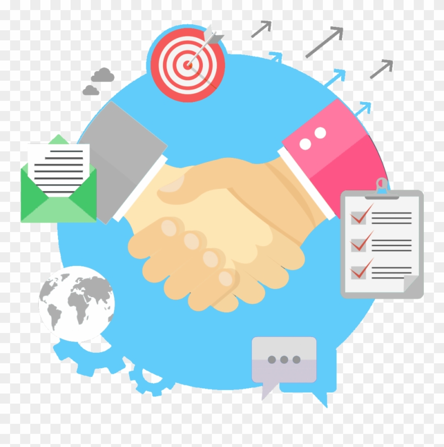 Business relationship . Handshake clipart commitment