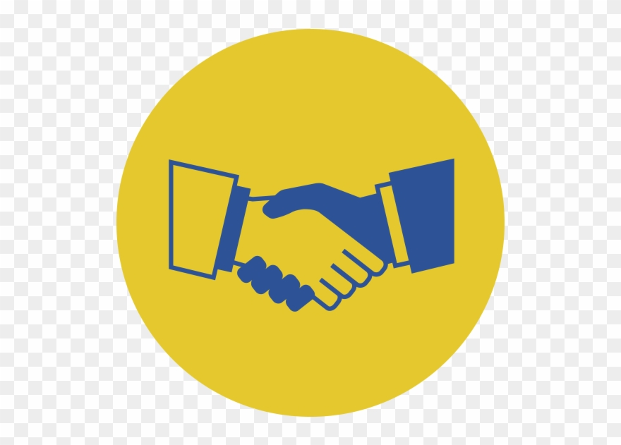 Handshake clipart commitment. Transparent background partnership icon