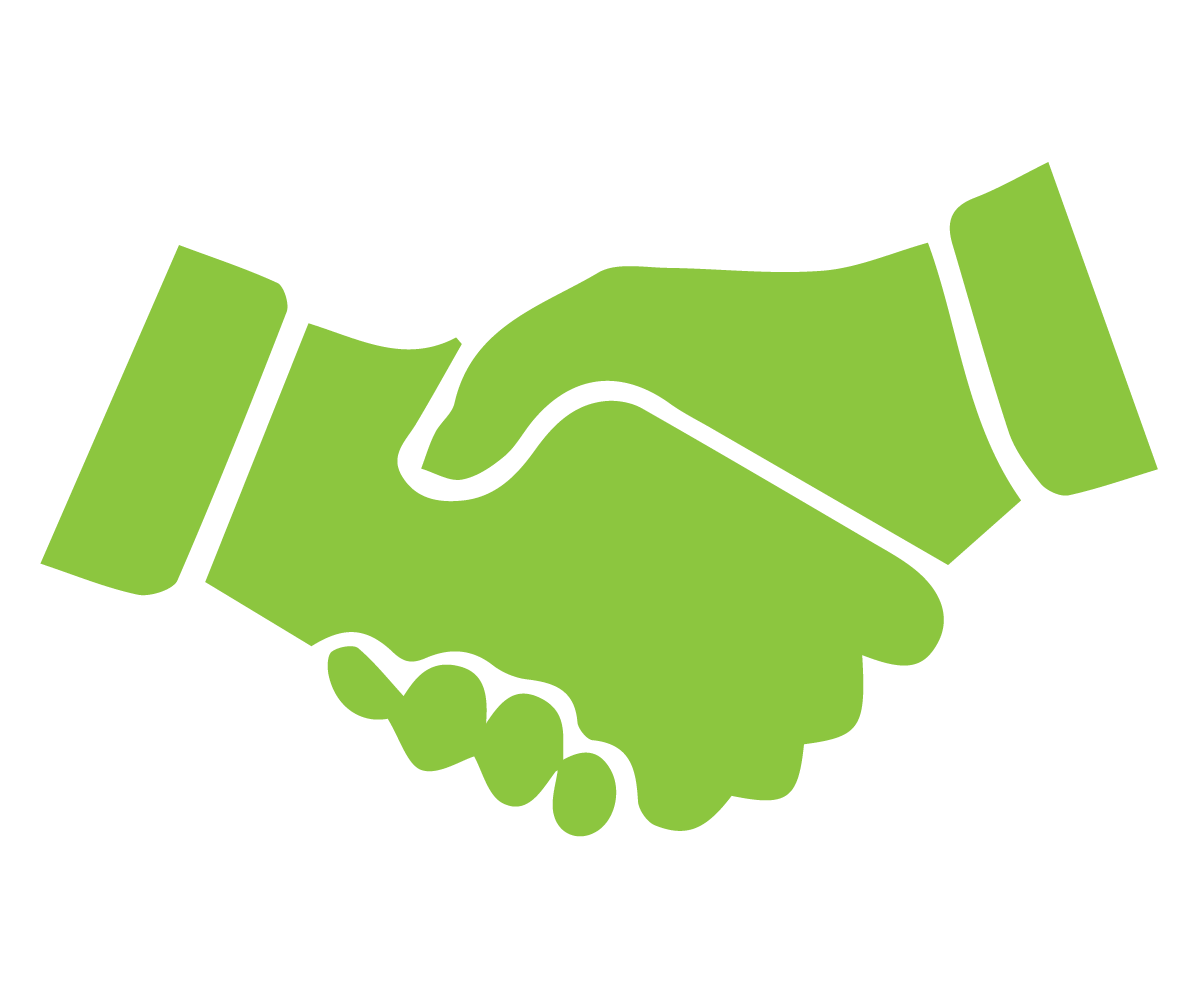 Handshake clipart commitment. Home page punctual delivery