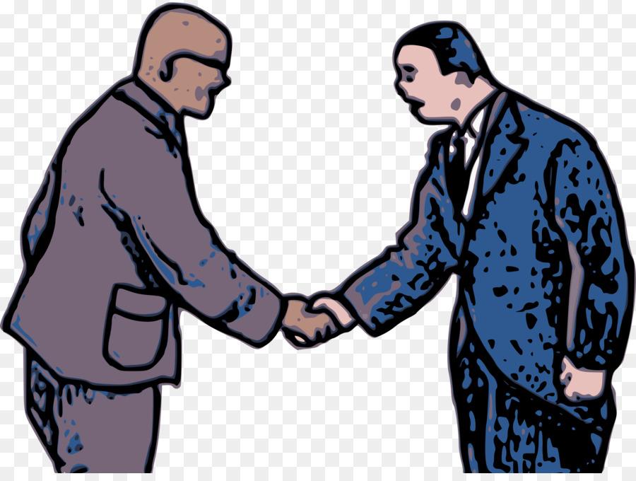 Man cartoon . Handshake clipart communication