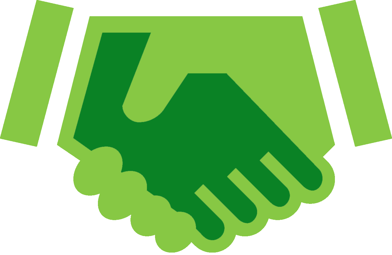 Handshake clipart credibility. Your website name helpful