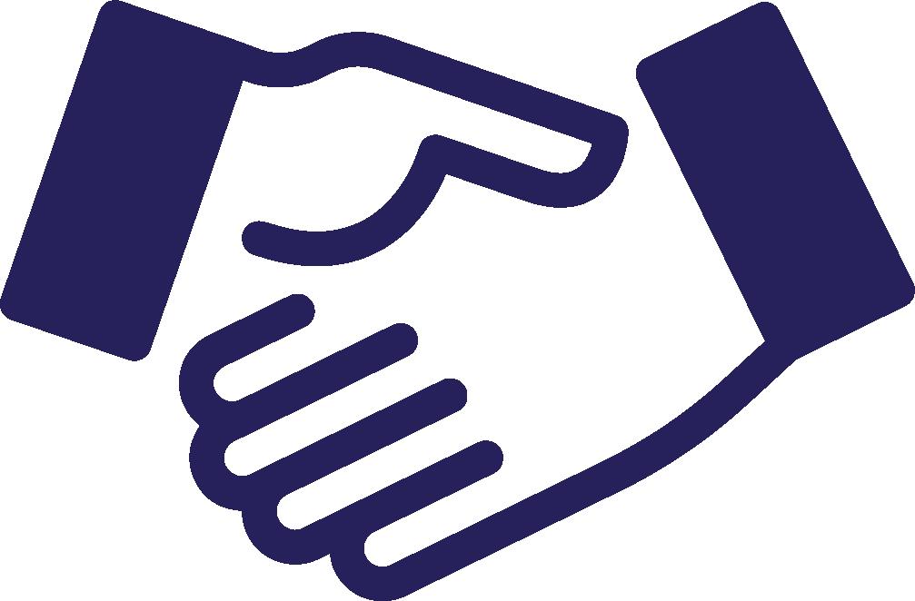 Il manifesto della comunicazione. Handshake clipart credibility