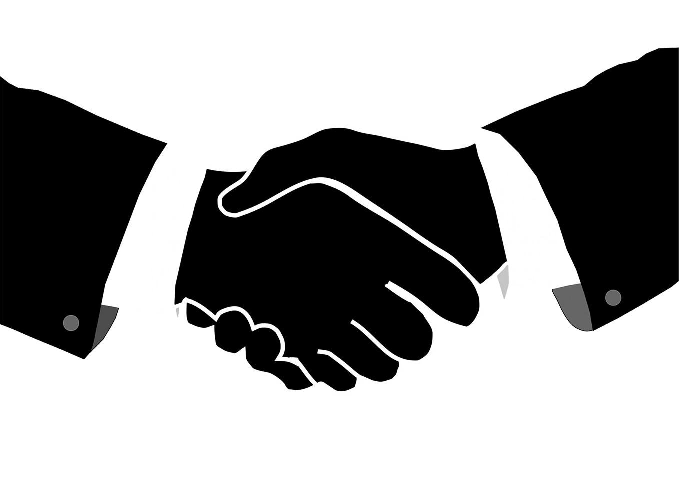Silhouette logos y marcas. Professional clipart handshake