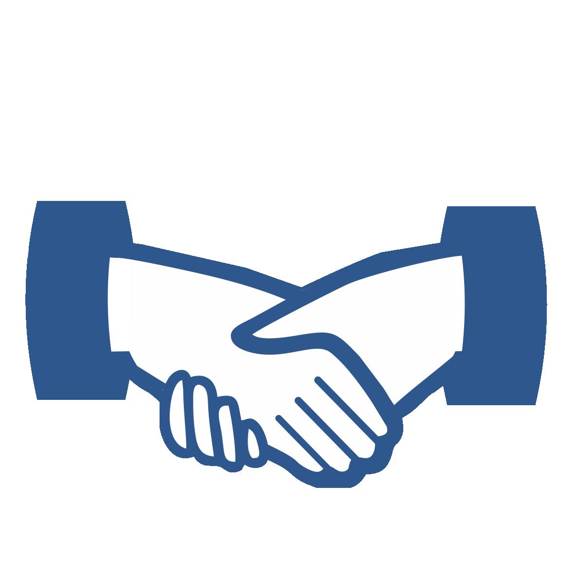 partners. Handshake clipart dignity