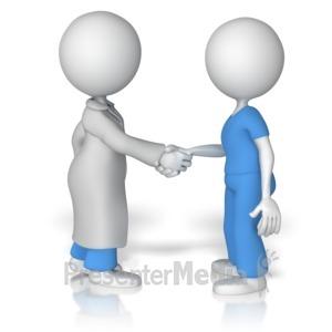 Handshake clipart doctor. With nurse