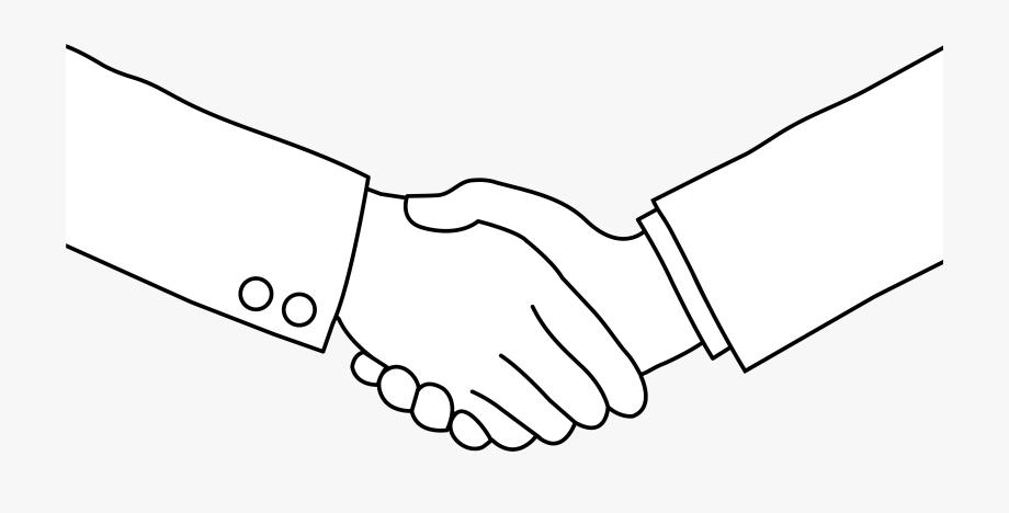 Handshake clipart drawn. Download shake hand logo