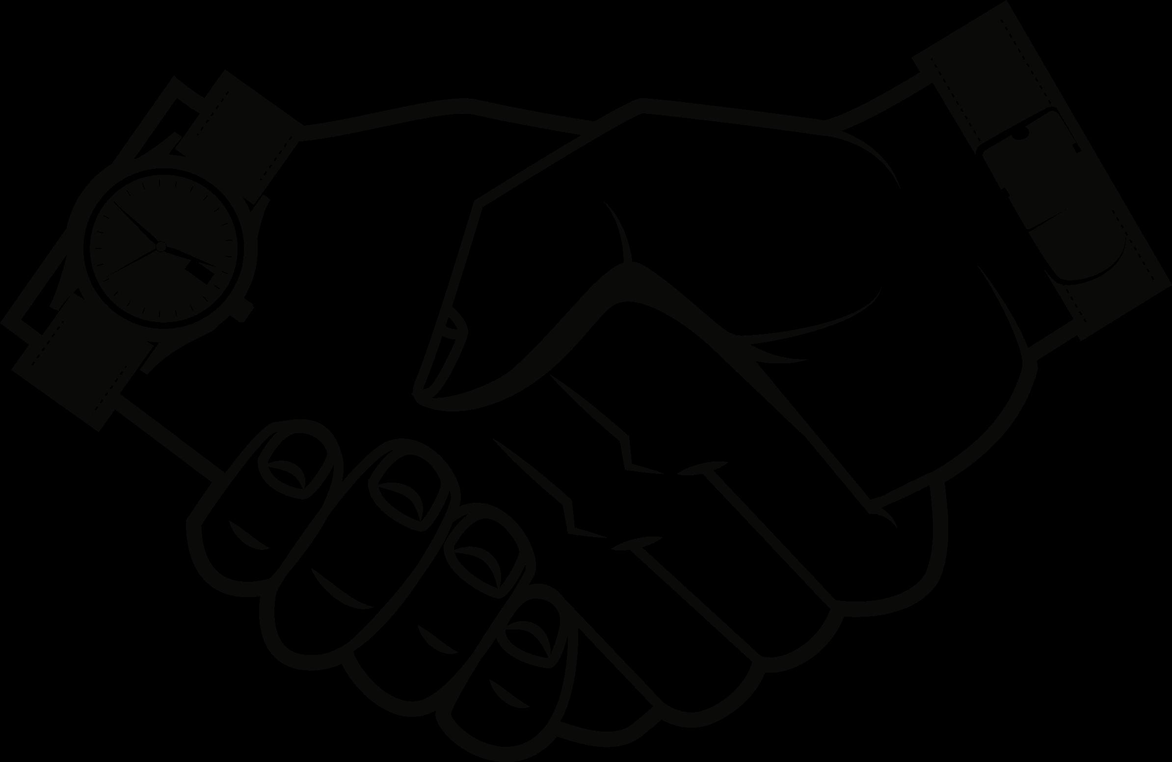 Handshake clipart drawn. Big image png