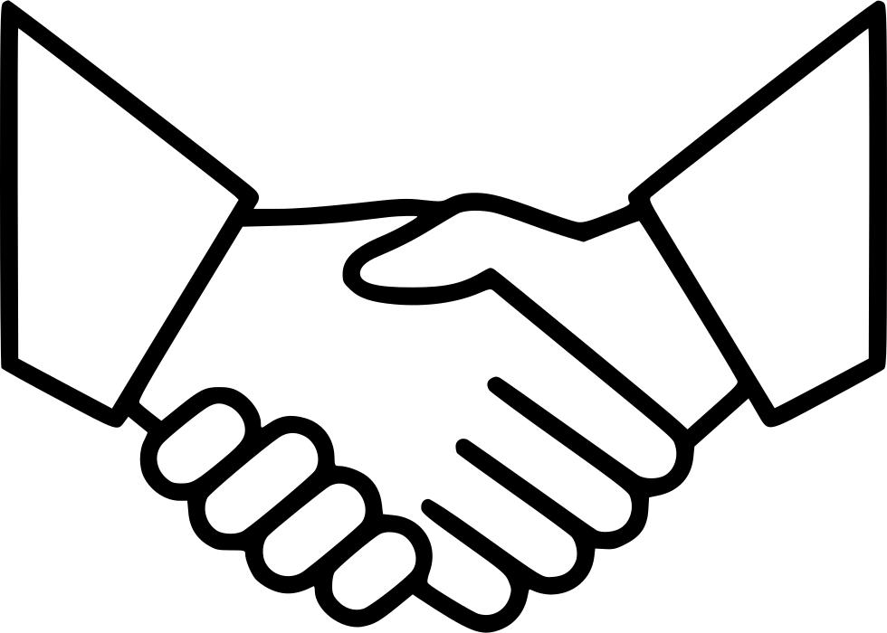 Handshake clipart drawn. Business agreement deal partnership