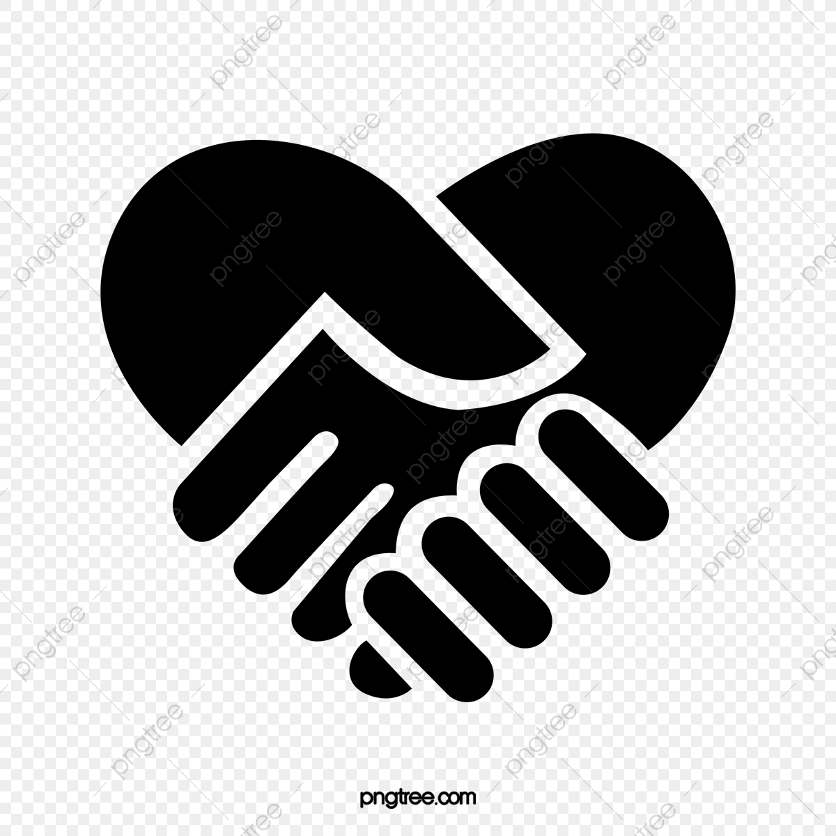 Love black png . Handshake clipart file