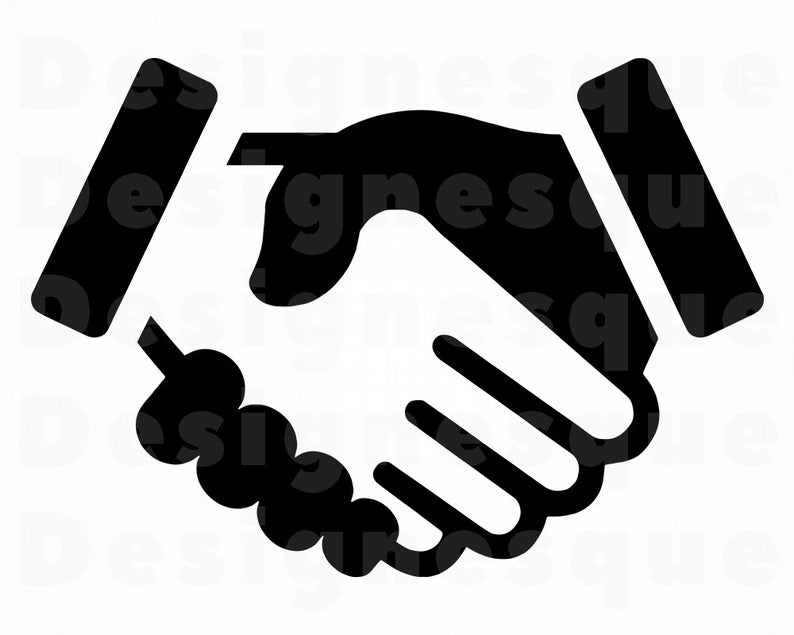 Handshake clipart file. Svg deal files for