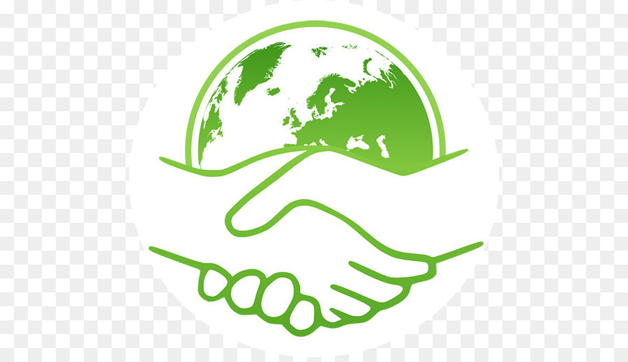 Handshake clipart green. Leaf logo drawing