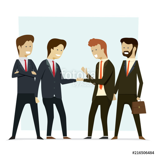Handshake clipart group. Business people shaking hands