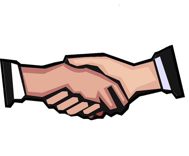 Handshake clipart hand check. Letter of intent template