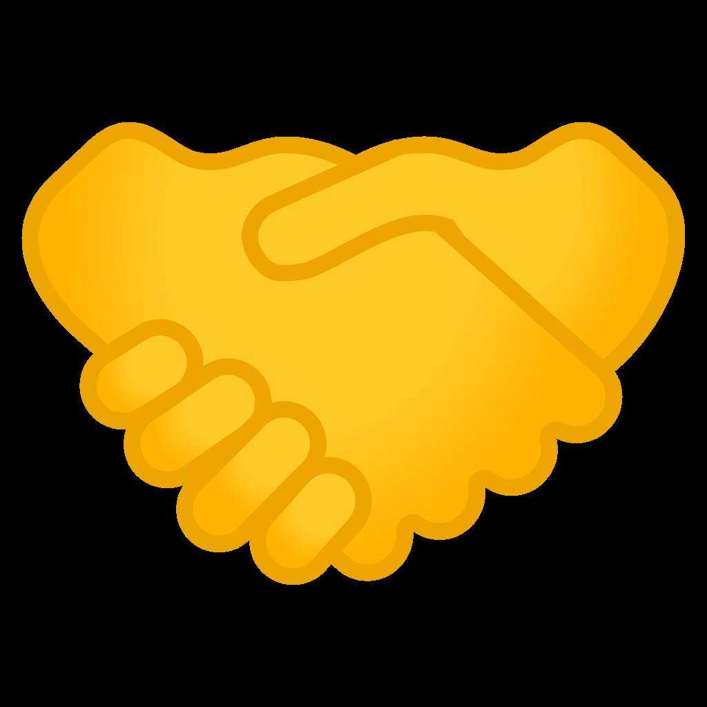 Icon noto emoji people. Handshake clipart hand check