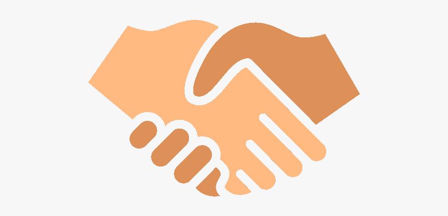 Orange people shaking hands. Handshake clipart handshaking