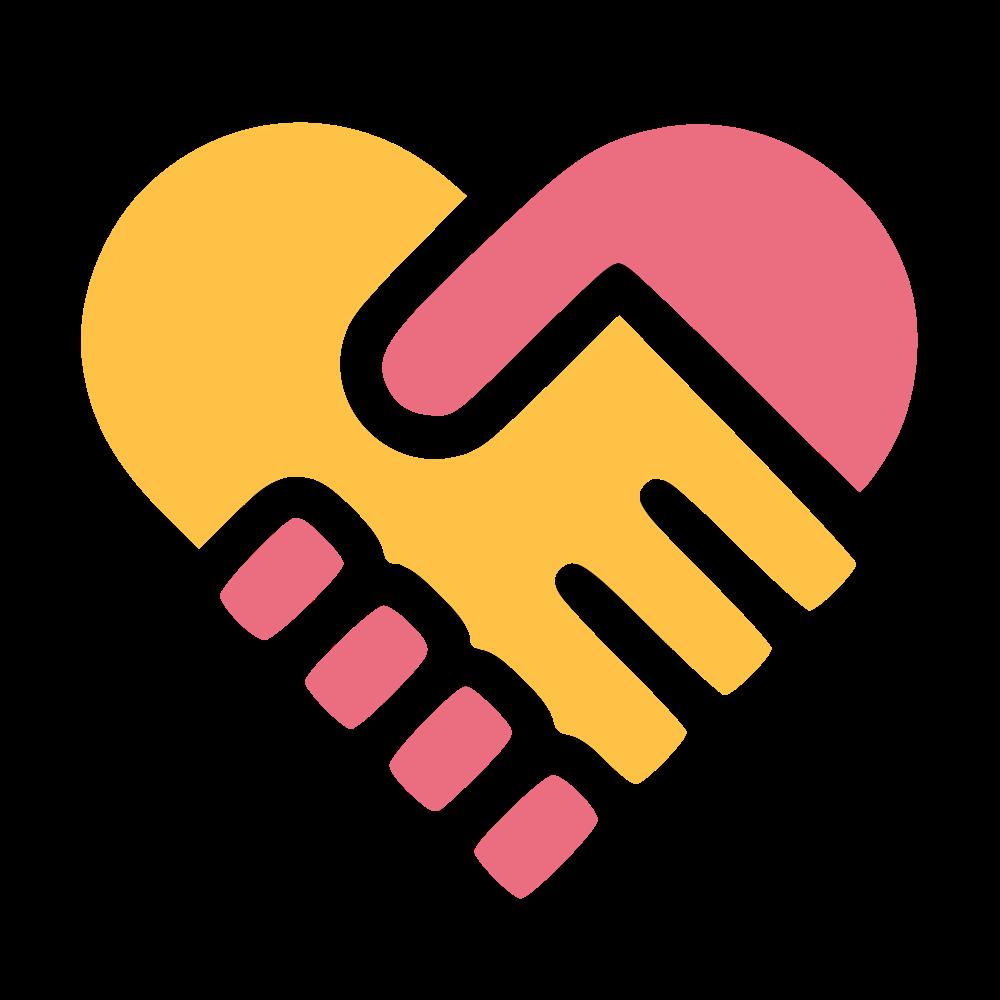 Ukti we invite talented. Handshake clipart heart