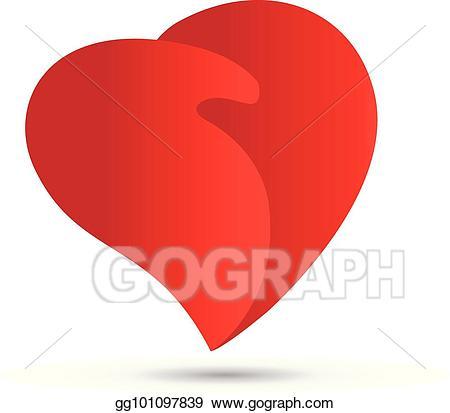 Handshake clipart heart. Eps illustration love logo