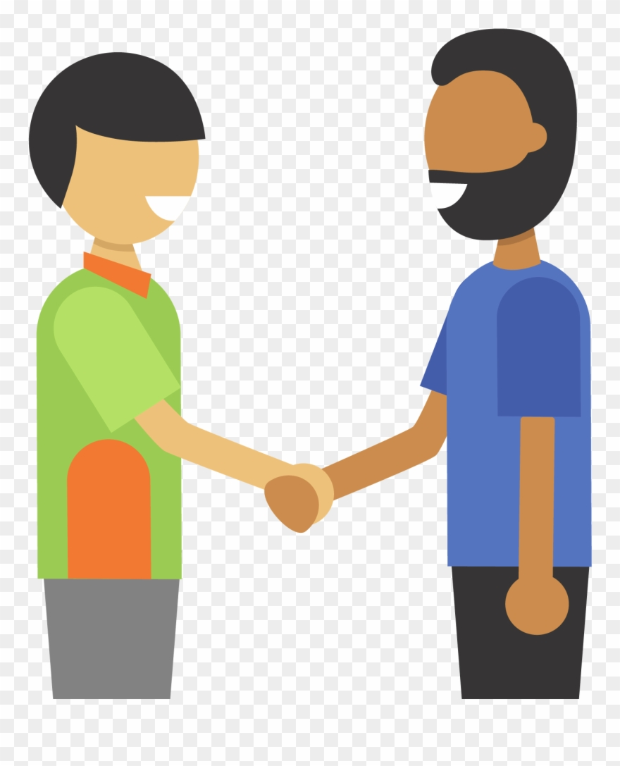 Handshake clipart holding hands. Illustration of two people