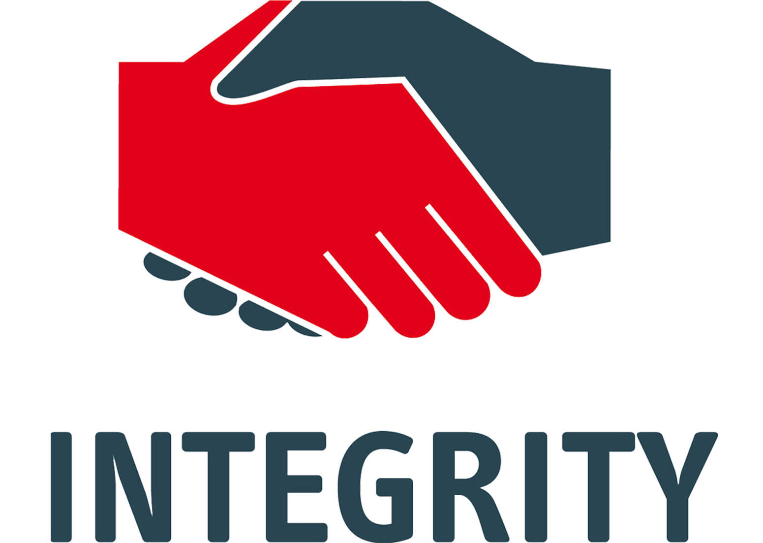 Handshake clipart integrity. Our values think thenlive