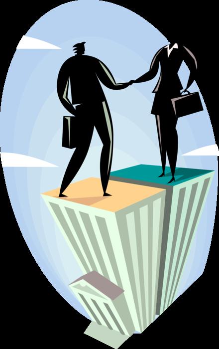 Handshake clipart introduction. Greeting vector image illustration