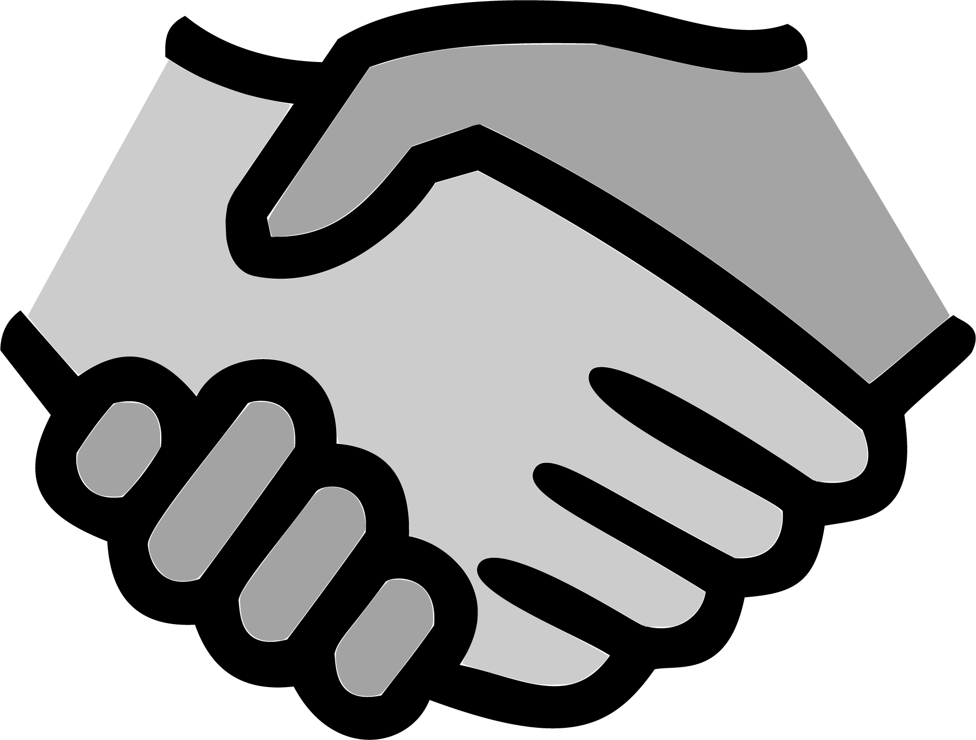 Team the collaboration in. Handshake clipart joint venture