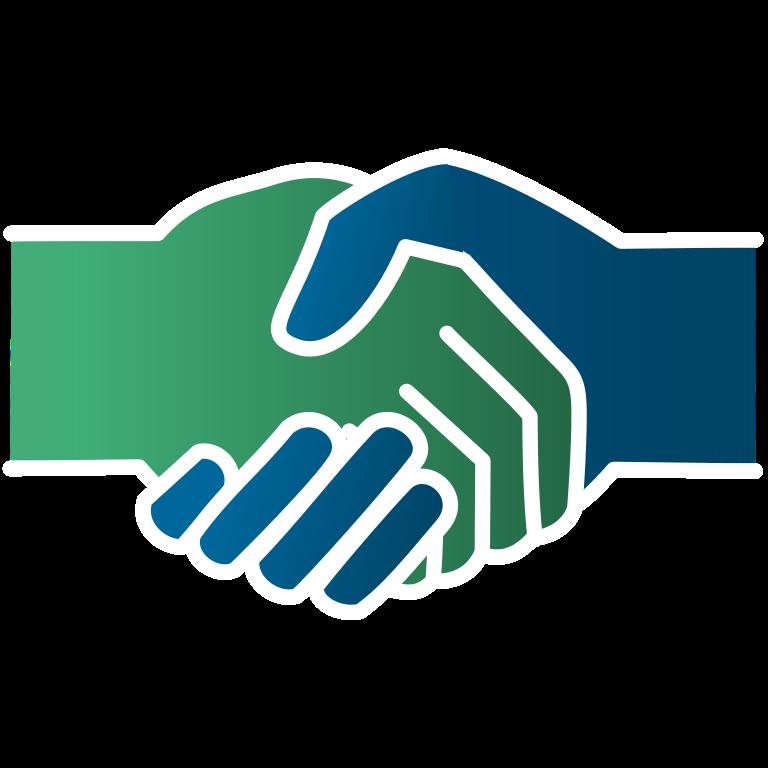 File icon green blue. Handshake clipart logo