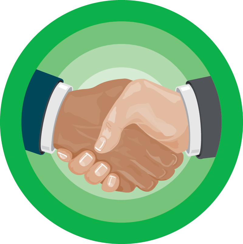 Handshake clipart micro finance. Features the all in