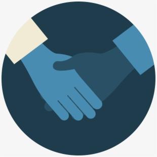 Handshake clipart micro finance. Hand holding bags icon