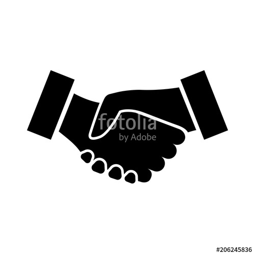 Handshake clipart mutual agreement. Icon two hands shaking