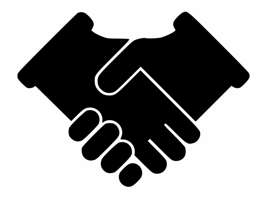 Contract support communication . Handshake clipart mutual agreement