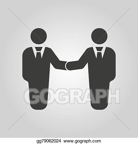 Handshake clipart negotiation. Vector illustration the icon