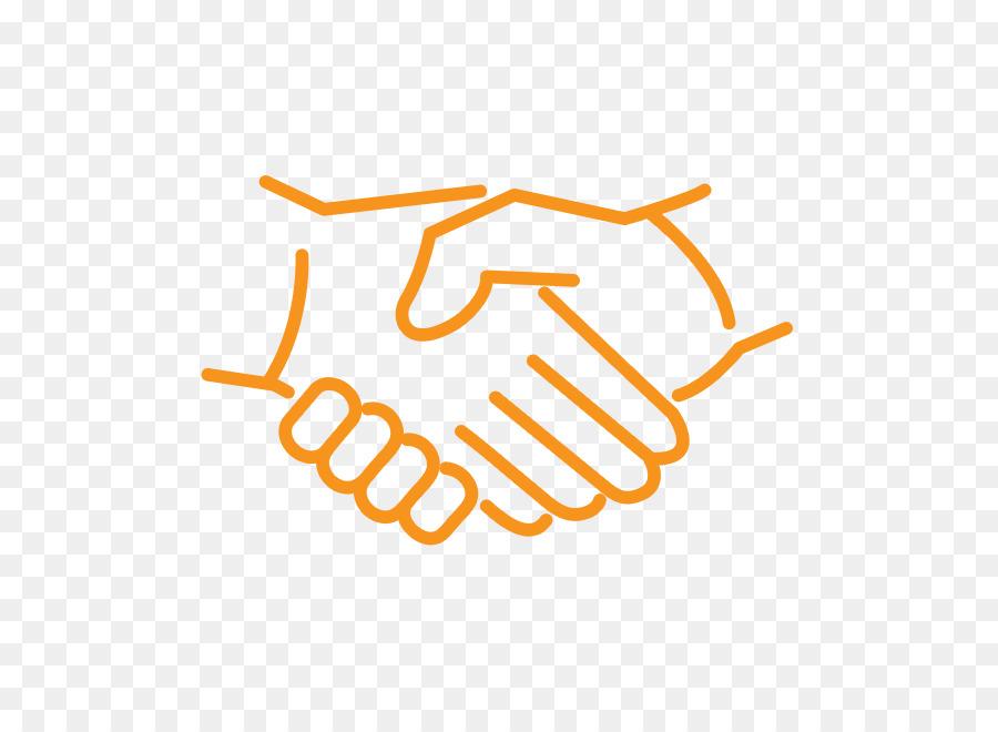 Business icon png download. Handshake clipart orange