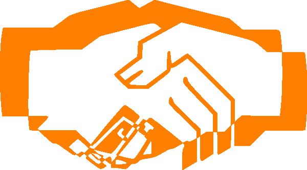 Handshake clipart orange. Clip art at clker