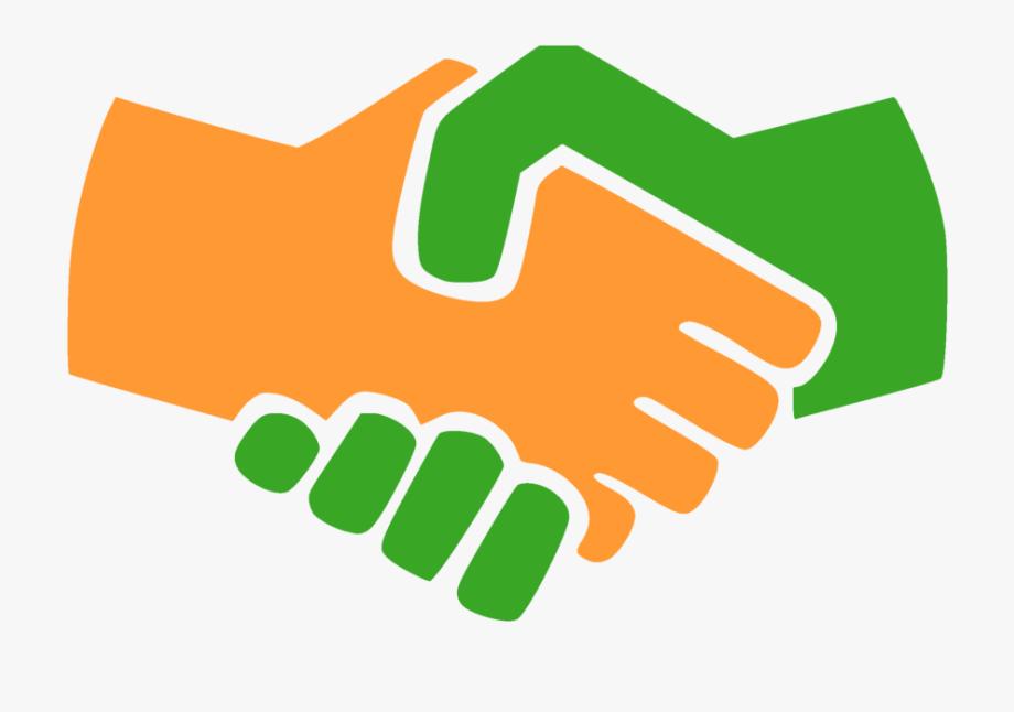 Clip art shake hand. Handshake clipart orange
