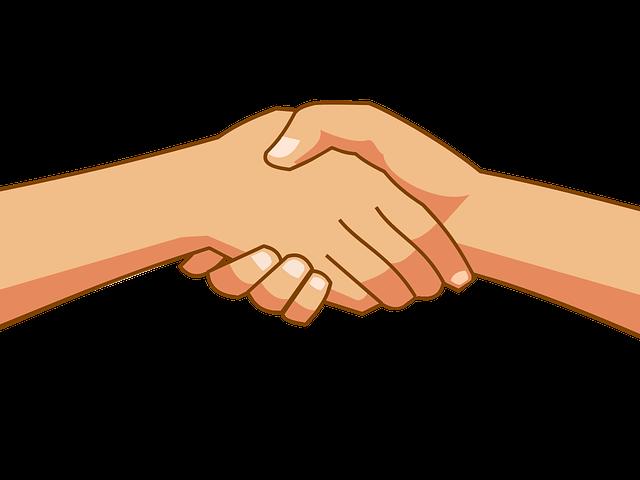 Free x carwad net. Handshake clipart orange