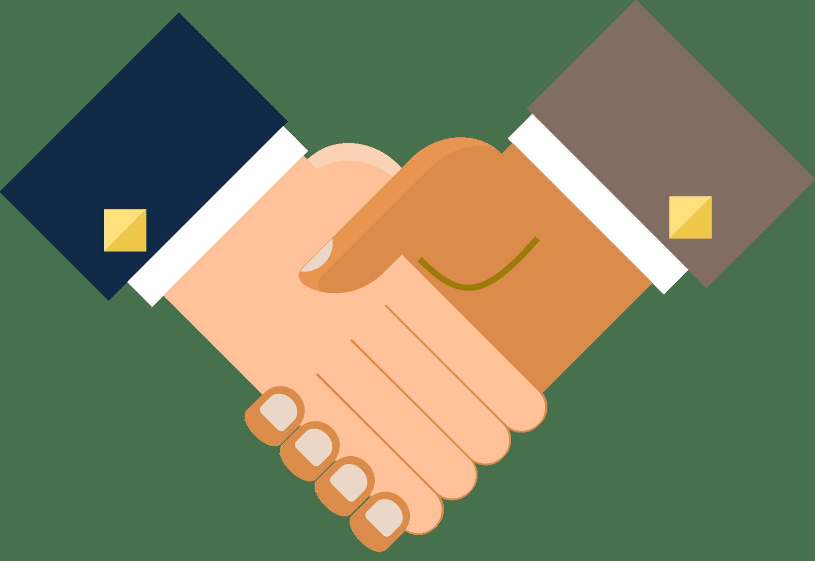 Handshake clipart orange. Customer communications direct mail